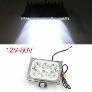 Black Shell Rectangle 6 White LED Light Headlight Spotlight for Motorcycle