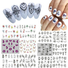 13x Flower Necklace Geometry Nail Sticker Water Transfer Decal Nail Art Decor ES