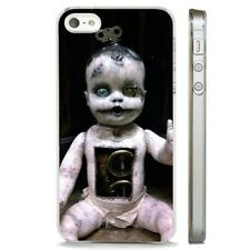 Creepy Baby Doll Horror CLEAR PHONE CASE COVER fits iPHONE 5 6 7 8 X