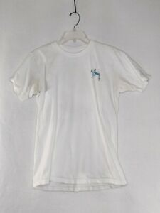 Guy Harvey Mens Size Small White (Underarm Stains) Short Sleeve Graphic T Shirt