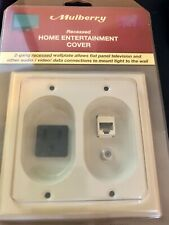 Ivory MULBERRY RECESSED HOME ENTERTAINMENT COVER  40557 Rated 15amps Cat 6