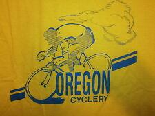 vtg 80s OREGON CYCLERY TSHIRT Softest Screen Stars Cycling Bicycle Biking Riding