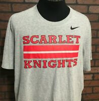 Rutgers University Scarlet Knights Nike Athletic Cut T-Shirt Men's Size 2XL