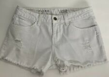 VANS Women's Shorts size 7 Vintage Mini Cut Off Shorts White