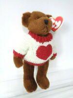 "TY BEANIE BABY 1993 - CASANOVA HEART TEDDY BEAR 8"" JOINTED SOFT PLUSH TOY - NEW"