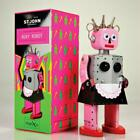 """ROXY ROBOT 5.5"""" Saint John Wind Up Tin Toy Collectible Retro Outer Space Girl St"""