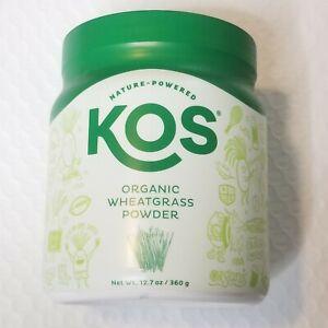KOS Organic Wheatgrass Juice Powder | Chlorophyll Rich Premium Wheatgrass