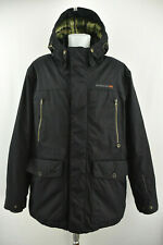 DIDRIKSONS Storm System Elton Usx Parka Jacket Black Padded Hooded Coat Size XL