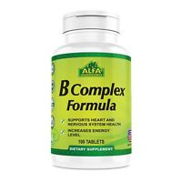 B Complex Plus Vitamin C 100 tablets. Supports for aging. Helps The Nervous Syst