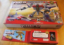 Kre-o Kreo STARSCREAM + Optimus Prime KREON SDCC complete Box G1 Transformer lot