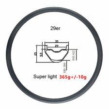 Super light 365g 29er XC MTB bike rim 35mm width tubeless carbon rim bicycle rim