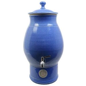 Bench Top Ceramic Water Filter Purifier with Fluoride or Doulton cartridge Blue