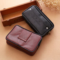 Men Waist Pack Bags PU Leather Casual Small Belt Purse Wallet Phone Holder Pouch