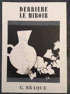 George Braque, Derrière Le Miroir, Nr3, vintage Original  Lithograph 1956