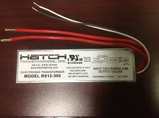 Hatch 300W Electronic Transformer 120V INPUT > 12V OUT 25A FOR HALOGEN  RS12-300