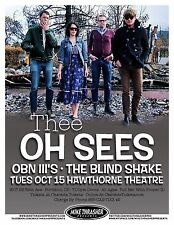 THEE OH SEES 2013 Gig POSTER Portland Oregon Concert