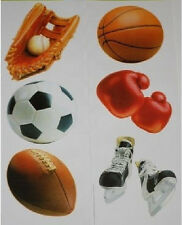 SPORTS wall stickers 7 big decals decor baseball mitt soccer football ice skates
