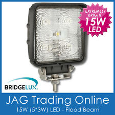 15W BL LED SQUARE FLOOD/WORK LAMP - 4x4/RV/Truck/Driving/Boat/Marine/Deck Light