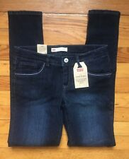 NEW Levi's Super Skinny 710 Girls Blue Jeans Size 14 Reg NWT Adjustable Waist