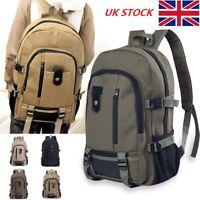 Men's Canvas Backpack Rucksack Travel Sport Schoolbag Camping Large Capacity Bag
