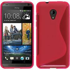 Silicone Case HTC Desire 700 S-Style hot pink + protective foils