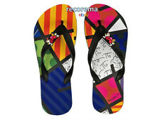 "ROMERO BRITTO FLIP FLOPS SIZE: 7/8  ""LANDSCAPE""   ** NEW ** MADE IN BRAZIL"