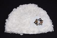 Blanc Peau De Mouton imitation CRYSTAL AURUM & Topaz Gems Feutre & Pearl Hat (S205)