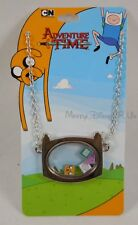 New Adventure Time With Finn & Jake Shaker Pendant Necklace W/ Character Faces
