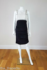 *NICOLE MILLER* SILK MIX BLACK AND WHITE DRESS (S)