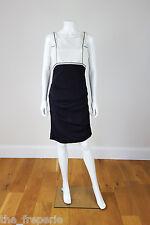 *NICOLE MILLER* SILK MIX BLACK AND WHITE DRESS (S)