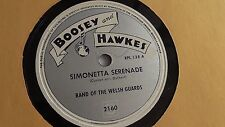 Band Of The Welsh Guards - 78rpm single 12-inch - Boosey and Hawkes #2160