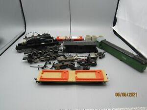HO Scale locomotive-BNSF flat cars drive assemblys, misc parts for repair