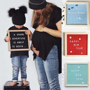 Family Felt Letter Board Letters Sign Changeable Message Display Stand Hanging