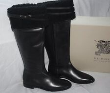 fdc0ebfd38c BURBERRY FERRIBY BLACK OVER THE KNEE BOOTS Size 9