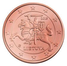 Monnaie 1,2,5 centimes cent cts euro Lituanie 2015, neuves du rouleau, UNC