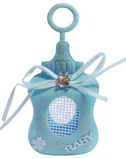Blue Fabric 3D Baby Bottle ~ Candy Bag, Keepsake, Christening, Baby Shower (Pk 2