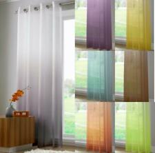 Two Tone Ombre Effect HARMONY Voile Net Curtain Eyelet / Ring Top Single Panel