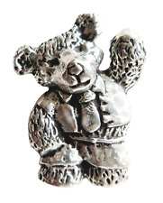 Teddy Bear Pewter Pin Badge - Hand Made in Cornwall