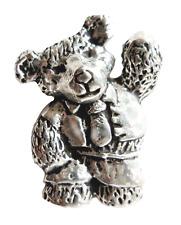 Oso de peluche Estaño Pin Insignia - Hecho a mano en Cornwall