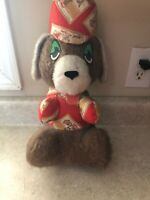 """Vintage Olympia Beer Stuffed Plush Bear With  Hat 15 """" Tall"""