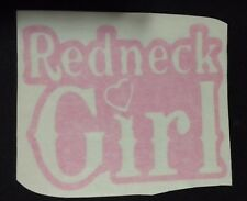 REDNECK GIRL PINK VINYL DECAL STICKER Country Sexy Horses Truck 4X4 Mudding USA