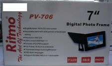 "Brand New Ritmo PV-706 7"" Digital Photo Frame with Remote and External Power"