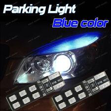 2-pc Deep Blue Error Free T10 2825 W5W LED Bulbs For Parking City Eyelid Light B