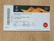 More details for manchester united v lask match ticket europa league 19/20 (played behind closed