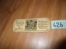 VINTAGE BED MAKERS PLATE STAPLES & Co LTD
