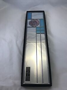 "Macintosh Mirror by Winged Heart Stained Glass Hand Made in Scotland 4.5"" x 17.2"