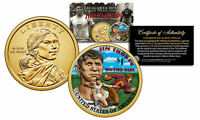 2018 Native American JIM THORPE Color Genuine Legal Tender $1 Sacagawea US Coin
