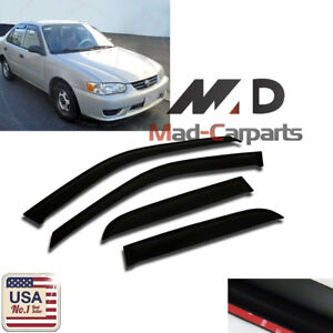 Smoke Window Visor Shade Sun Guard For Chevrolet Prizm 1998 1999 2000 2001 2002