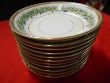 """Beautiful Collectible FUJI China OCCUPIED JAPAN """"Orchard""""- Set of 11 BERRY Bowls"""