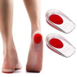 Women's Silicone Gel Heel Cups Heel Seats Foot Orthotic Cushions Inso HwCWDE